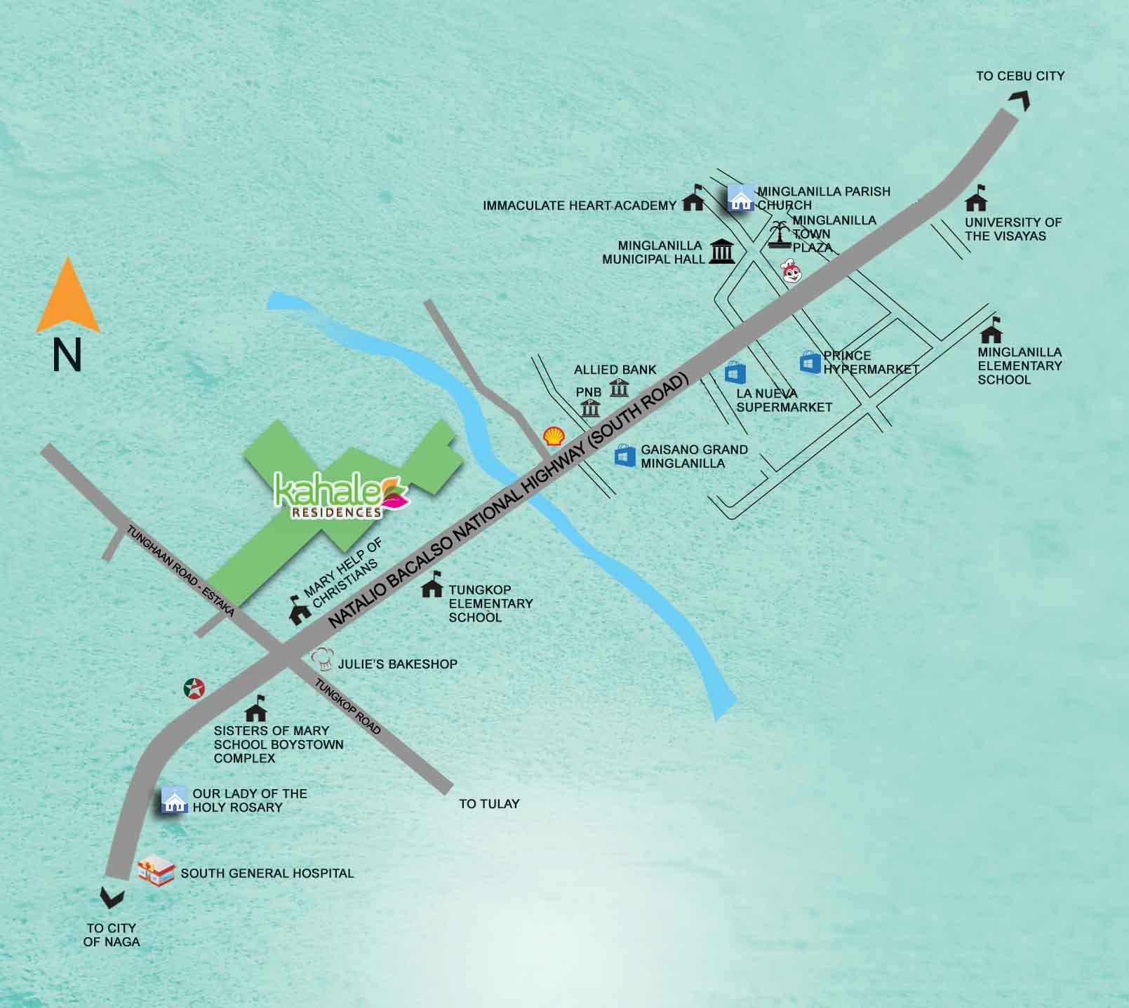 Kahale Residences Location Map